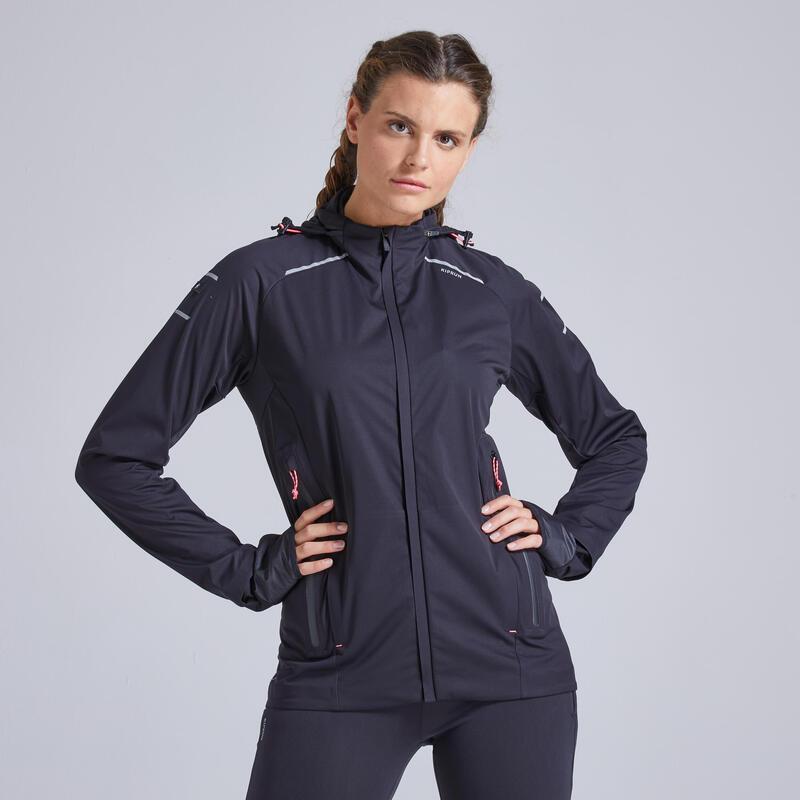 Kiprun Warm Regul Women's Running Water Repellent Windproof Jacket - Black