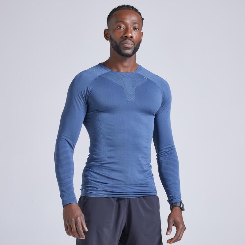 Koszulka do biegania z długim rękawem męska Kiprun Skincare