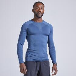 T-shirt manica lunga running uomo KIPRUN SKINCARE azzurra