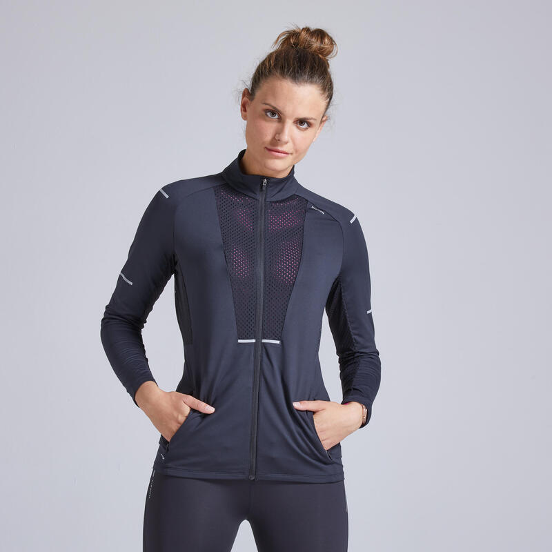 Kiprun Women's Running Breathable Jacket - black