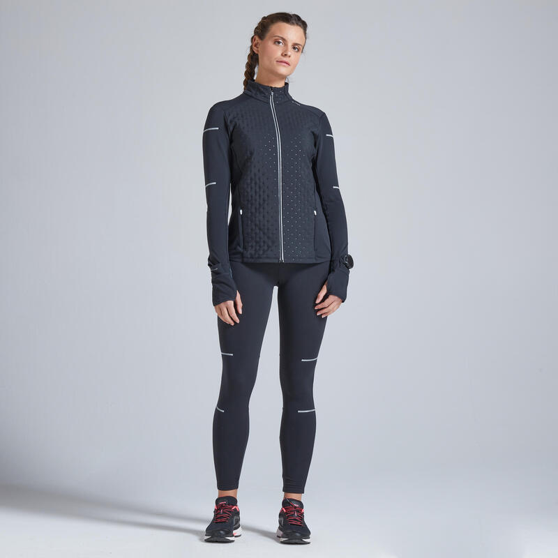 KIPRUN WARM WOMEN'S WINTER RUNNING JACKET BLACK