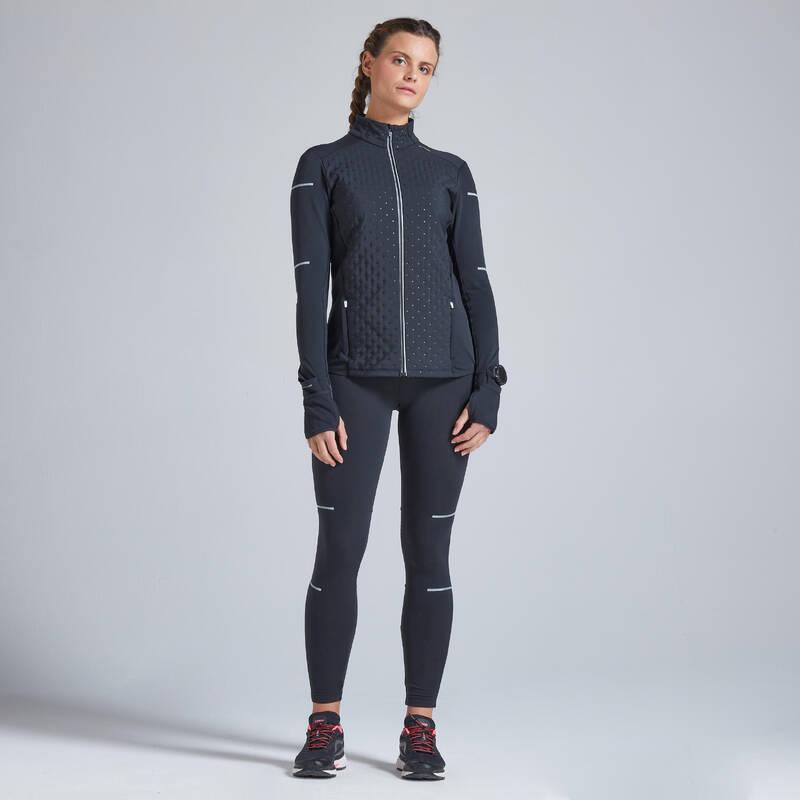 DÁMSKÉ BĚŽECKÉ HŘEJIVÉ OBLEČENÍ NA SILNIČNÍ BĚH Běh - BĚŽECKÁ BUNDA KIPRUN WARM  KIPRUN - Běžecké oblečení