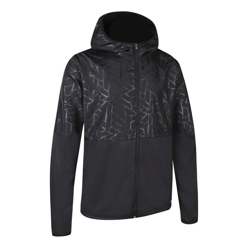 【中階】男士保暖透氣跑步外套 KALENJI RUN WARM+WIND - 黑色
