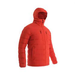DOWN HOODIE JACKET TREK500 -12°C - RED - MAN