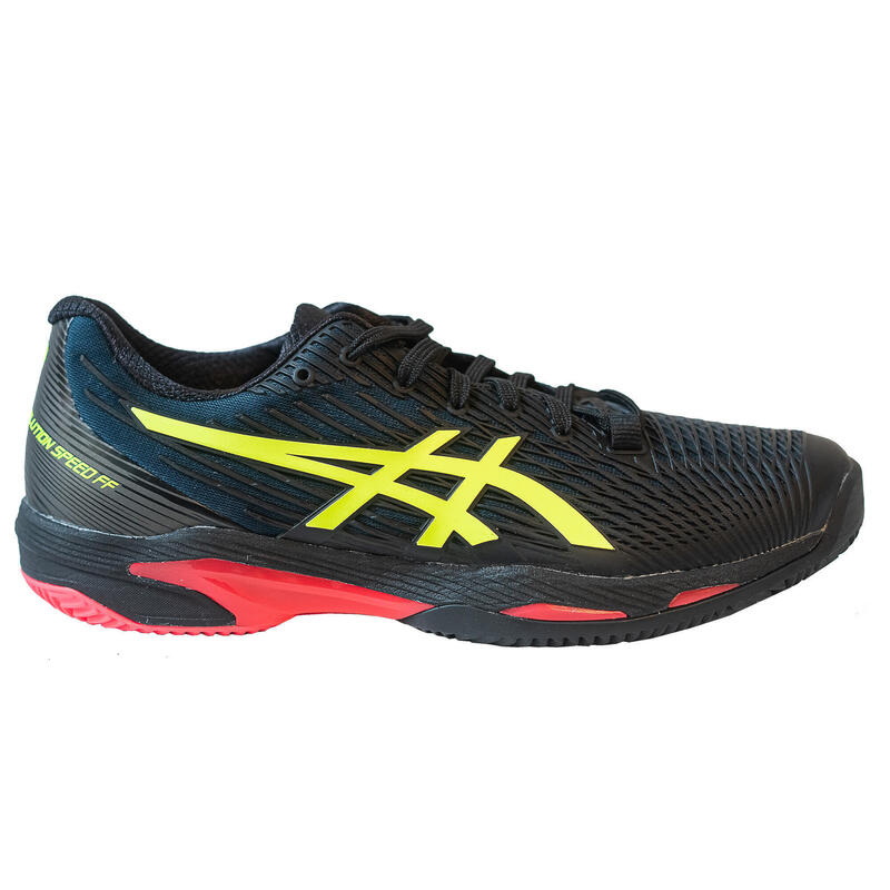 Zapatillas de Tenis Asics Gel Solution Speed FF 2 Hombre Negra Tierra Batida
