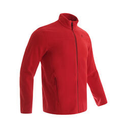 Men's Mountain Walking Fleece Jacket MH180 - Red