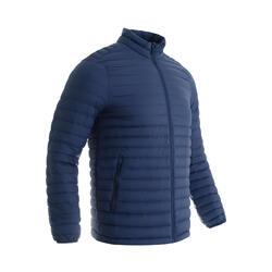 男款多日登山羽絨外套- TREK 100 - 藍色