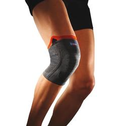 Versterkte kniebandage voor volwassenen grijs