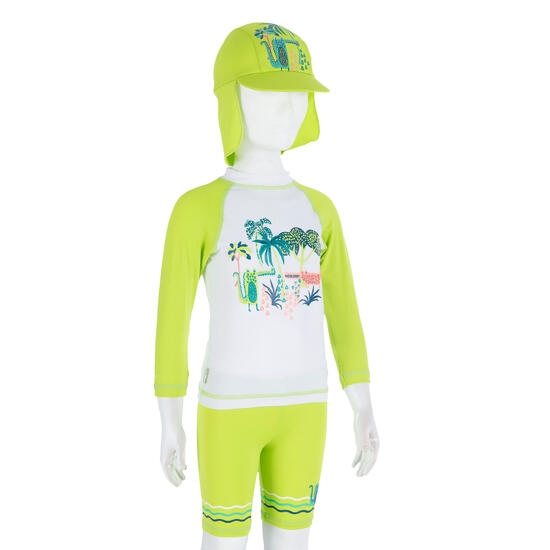 Uv-werende set van pet, kuitbroek en shirt voor peuters Surf - 209002