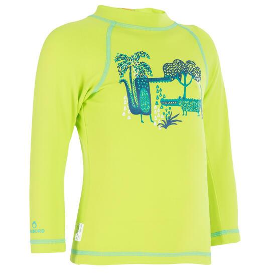 Thermisch en uv-werend shirt met lange mouwen voor peuters blauw gestreept - 209075