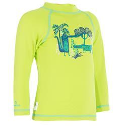 Tee shirt anti-UV surf top thermique polaire manches longues bébé