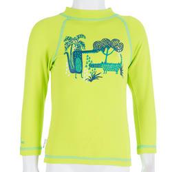 Thermisch en uv-werend shirt met lange mouwen voor peuters blauw gestreept - 209077