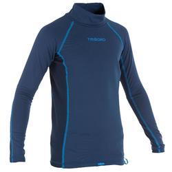 兒童抗UV保暖長袖衝浪運動防護T恤 - 藍色
