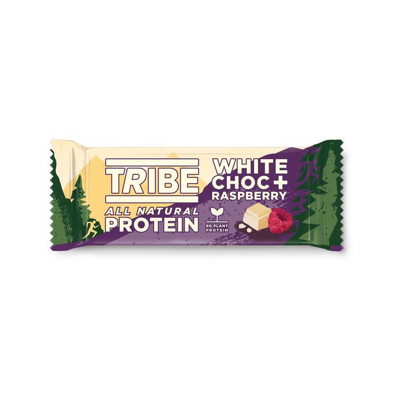Natural Plant Protein Bar - White Choc + Raspberry - Vegan, Gluten & Dairy Free