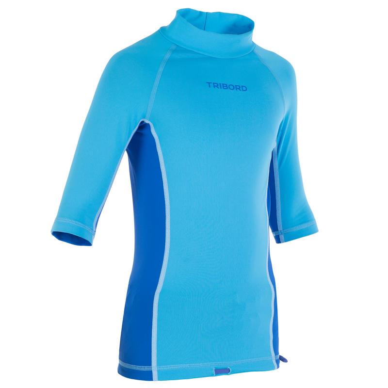 Child's Anti-UV Short Sleeve Ride Top - Blue