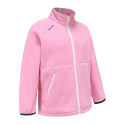 Girls' warm eco-design fleece sailing jacket 100 - Light pink