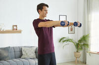 Mancuernas Vinilo 2 x 2kg. Fitness Gym Pilates Nyamba azul