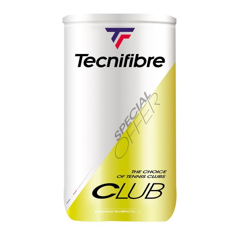 BALLES DE TENNIS TECNIFIBRE CLUB *4 BIPACK JAUNE