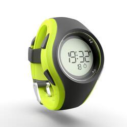 Montre chronomètre de course à pied W200 M grise jaune