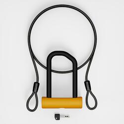 Cadeado de bicicleta 900 + cabo - Amarelo