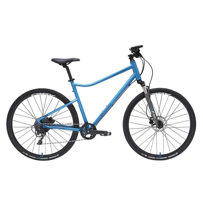 Bici trekking RIVERSIDE 900 azzurra