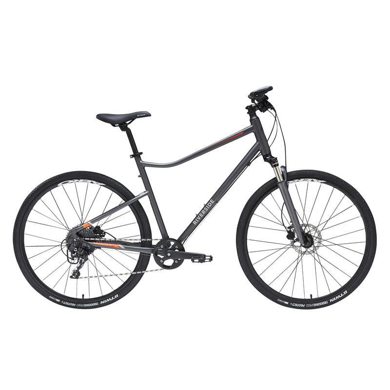 Hybrid Bike Riverside 900 - Grey/Orange