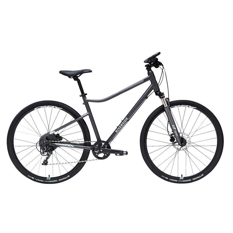 Hybrid Bike Riverside 900 - Grey/Sea Green