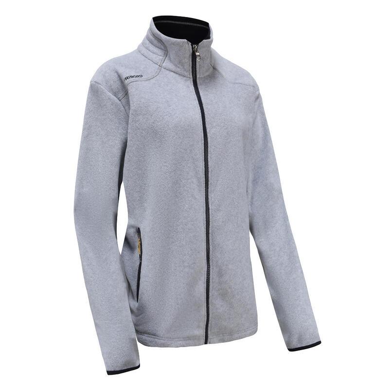Warme fleece voor zeilen dames Sailing 100 ecodesigned gemêleerd grijs