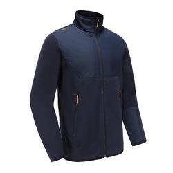 男款保暖刷毛航海外套500 藍/黑