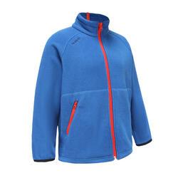 女孩款節能設計保暖刷毛航海外套100 - 藍色