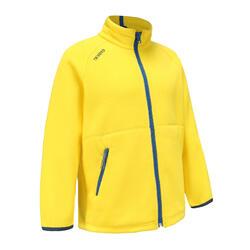 Girls' warm eco-design fleece sailing jacket 100 - Yellow CN