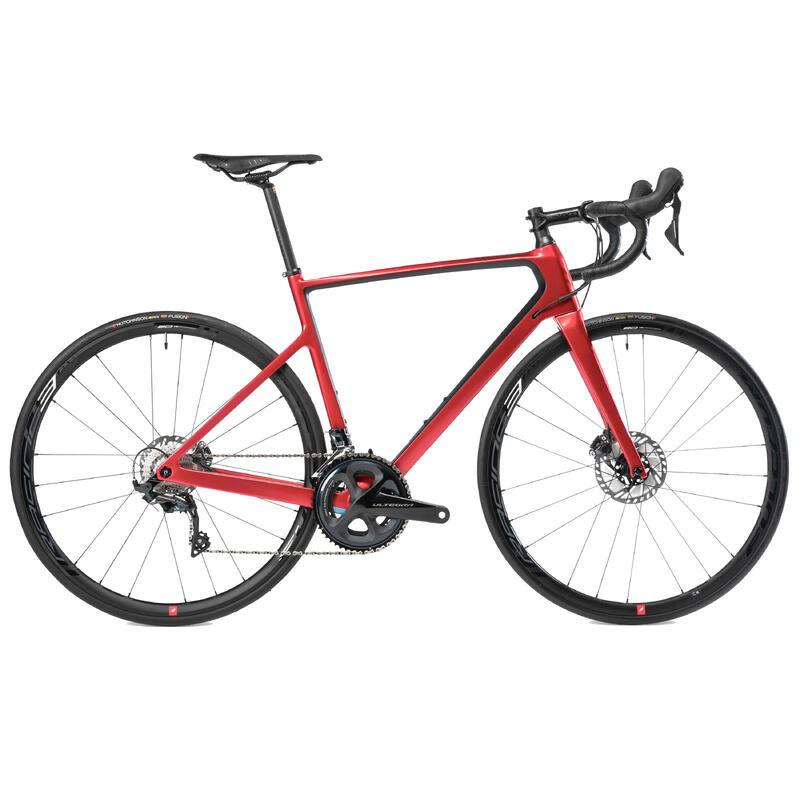 Bici da corsa VAN RYSEL EDR CF ULTEGRA rossa