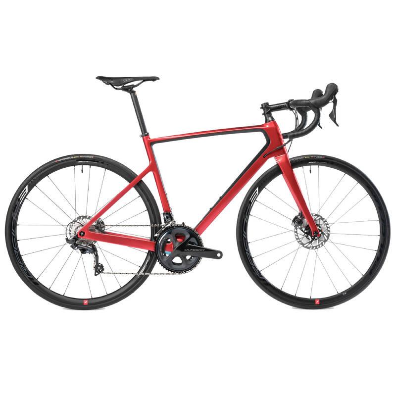 PÁNSKÁ SILNIČNÍ ZÁVODNÍ KOLA Cyklistika - SILNIČNÍ KOLO EDR CF ČERVENÉ VAN RYSEL - Jízdní kola