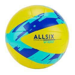 Pallone per l'apprendimento della pallavolo V100 giallo