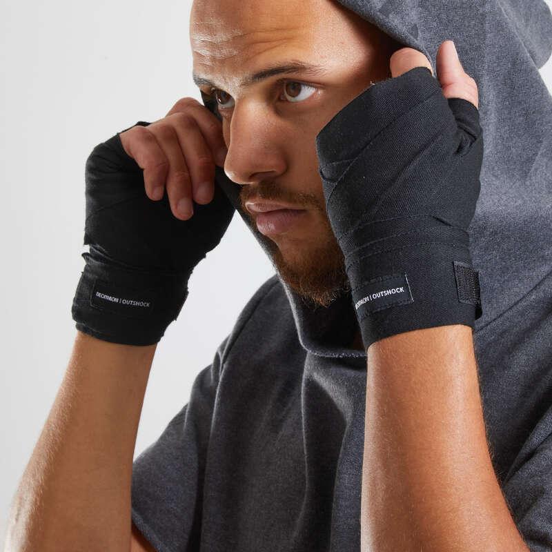 BANDAŽE I PODRUKAVICE Boks - Boksačke bandaže 2,5 m crne OUTSHOCK - Rukavice za boks