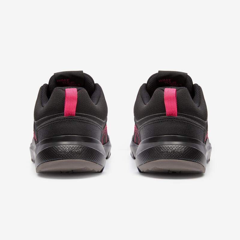 HW 100 Women's Fitness Walking Shoes - Black/Pink