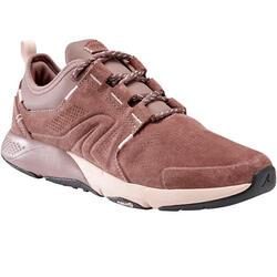 Damessneakers voor wandelen in de stad Actiwalk Comfort Leather roze