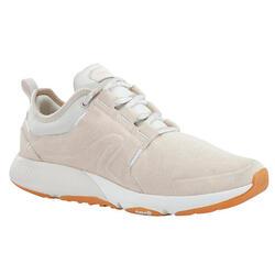 Damessneakers voor wandelen in de stad Actiwalk Comfort Leather beige