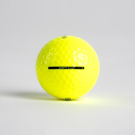 Balle de golf SOFT 500 X12 jaune