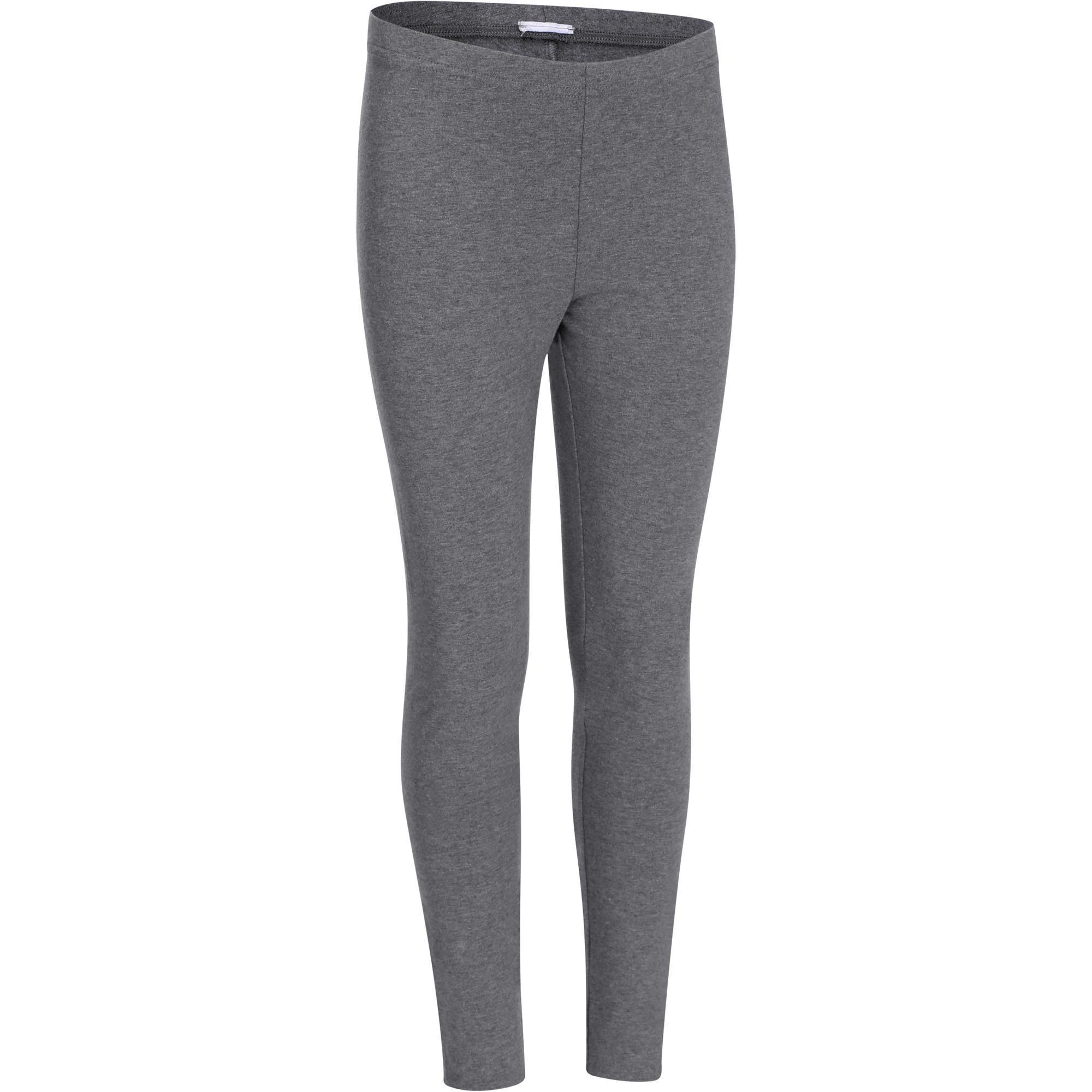legging fitness fille gris domyos by decathlon. Black Bedroom Furniture Sets. Home Design Ideas