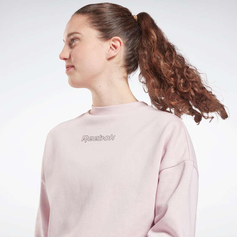 ЖЕНСКИЕ БРЮКИ ‒ КУРТКИ ‒ ТОЛСТОВКИ Одежда - Свитшот жен Reebok розовый REEBOK - Одежда
