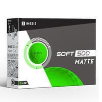 SOFT 500 Golf Ball x12 - Matte Green