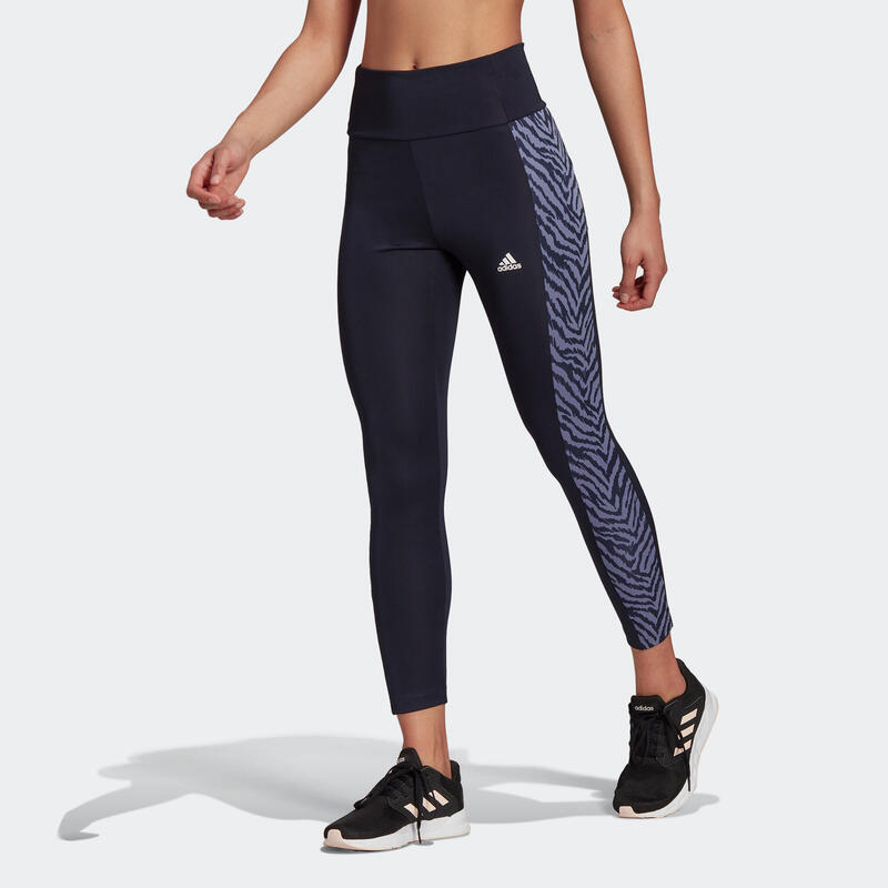 Leggings 7/8 donna Adidas azzurri