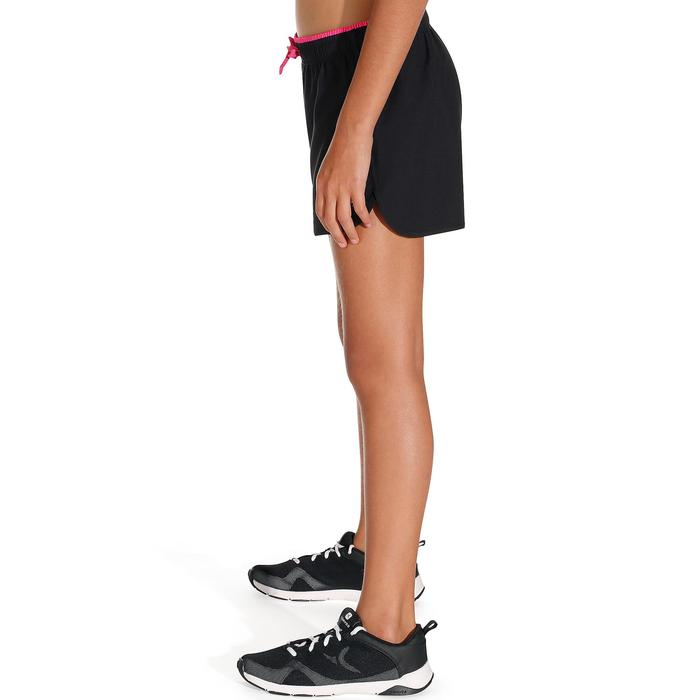 Short W500 Gym Fille noir rose