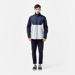 Men's warm sailing fleece 500 - Light grey/blue