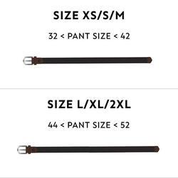 Grey adult size 2 stretchy golf belt