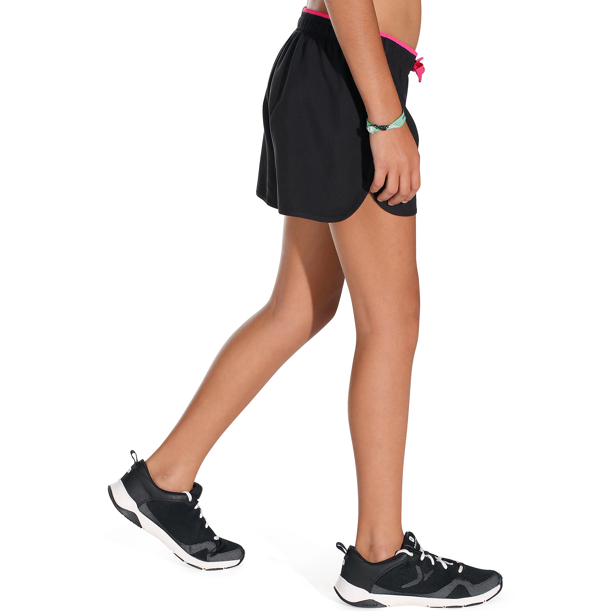 Energy Girls' Gym Shorts - Black/Pink