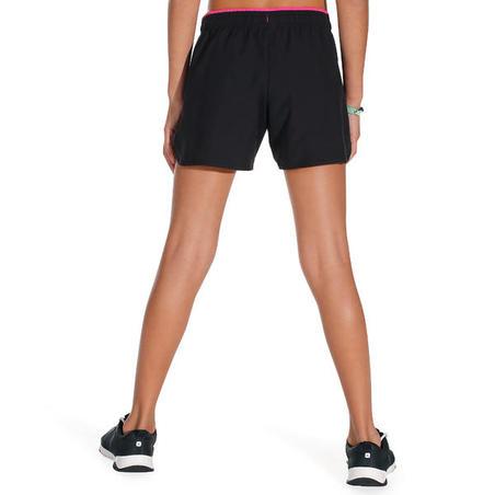 W500 Girls' Gym Shorts - Black/Pink
