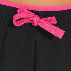 W500 Girls' Gym Shorts - Black/Pink