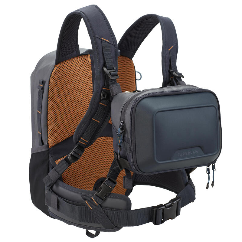 Fishing backpack Chest pack 500 15 L + 5 L